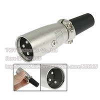 20pcs Microphone Patch XLR Male 3-pin Plug Connector , Free shipping
