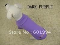 Hot Sale Purple Cotton Dog Clothes POLO Shirt Size XS S M L Pet Clothing