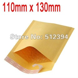 "Free Shipping Wholesale11cmx13cm 4.4""x5.1"" Kraft Paper Air Bubble Envelope Bag Mailers wthout printing Yellow Color(China (Mainland))"