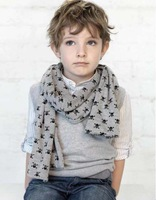 Children's Scarves cute boy and girl Double Skull Scarves Shawl Printing Family Scarves.