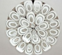 2012 Customers' Recommending Best Selling Led Peacock Crystal Ceiling Chandelier Light with Name Brand 600*600*280mm,Design OEM