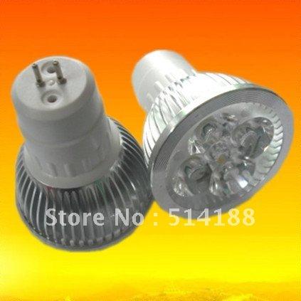 10XFree Shipping GU5.3 MR16 E27 GU10 base socket led lights 4x3w 12w 110-240V 2 years warranty(China (Mainland))