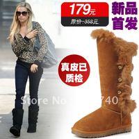 genuine leather fur waterproof high-leg women's shoes snow boots 5866 BT0001