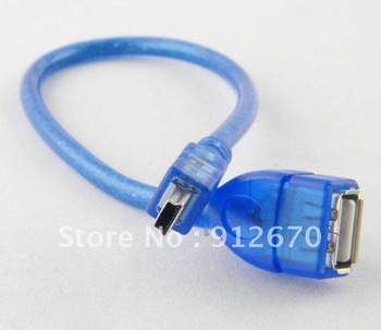 promition 100pcs good quality usb to 5 p female to male cable adapter T port car mp3 u disk converter cable free shipping #6304