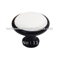 white and black classic knob hardware furniture wholesale and retail shipping discount 100pcs /lot Y0-BK