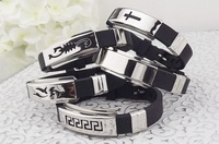 100PCS free shipping Energy bracelet Germanium Titanium bracelet ,Christmas gifts