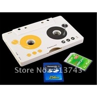 Car MP3 Player Tape Cassette Adapter for SD/MMC Reader