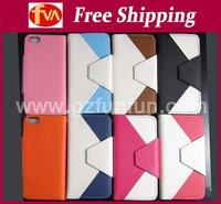 free DHL shipping cost hot sell mobile phone leather case with card bag for iphone 5 cover 30pcs/lot