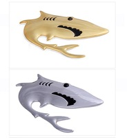 Car Auto 3D Shark Emblem Badge Decal Sticker Decoration