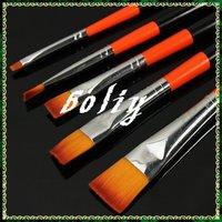 New 5 pcs Acrylic UV Gel Nail Art Tips Brush Pen Handle Builder Design Tool DIY