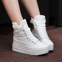 2012 elevator canvas shoes platform high platform shoes casual lacing shoes