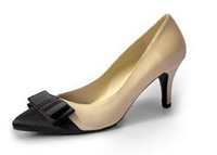 2012 trend pointed toe bow fashion women's high-heeled shoes single shoes high-heeled shoes female