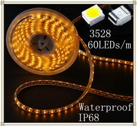 DC 12V 5M rgb smd 3528 led strip 7 colors 300pcs led light strips waterproof  ip68 by  DHL