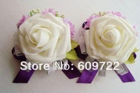 Mix 2014 New  European Prom corsage  Artificial Rose  Wrist Flower Bridesmaid Accessories in Wedding Decoration FL127