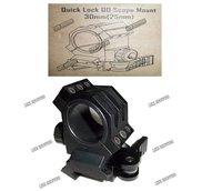 Tactical Quick Lock QD Scope Mount 30mm(25mm) black
