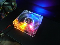 80mm Fans 4 LED Color For Computer PC Case Cooling