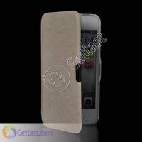 HARD WALLET LEATHER CASE COVER FOR APPLE IPHONE 5 5G YELLOW