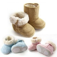 Free shipping 4pairs/lot Winter Warmer Baby Snow Boots/Booties for baby/Infant Shoes/children antislip shoes