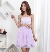 2012 pregnantwith party chiffon elegant spaghetti strap dress one-piece dress