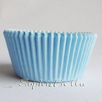 FREE SHIPPING purity blue 100 Pcs cupcake liners bakery supplies muffin cases B273 D