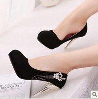 Туфли на высоком каблуке New Brand Hot Selling Ladies fashion sexy high-heeled shoes Ladies Sexy Flcok pumps