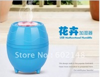 Free shipping 1pcs/lot  newest desgin ultrasonic  USB flowers and plants air humidifier