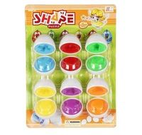 Retail 6pcs/set Classic  Toy Baby Smart Egg Puzzle Toy Hands-on Understanding The Shape