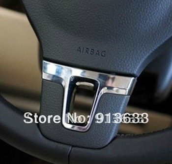 In stock Chrome Steering Wheel Trim Badge For 2010 2011 Vw Golf 6