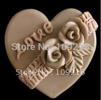 Free shipping!!!1pcs DIY LOVE (R0064) Silicone Handmade Soap Mold Crafts DIY Mold