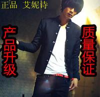 Autumn slim blazer male chinese tunic suit school uniform blazer stand collar chinese tunic suit