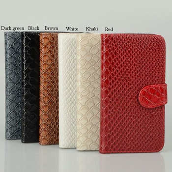 1PCS New Snake Leather Card Slot Flip Case Wallet For Samsung Galaxy S3 i9300 CM127