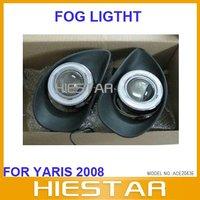 Car Auto Fog lights lamp for Toyota Yaris with Projector lens CCFL fog headlights