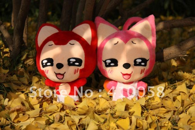 discount and freeshipping Fox stuffed doll for kids and friends, buy 2 pieces, big discount for you1(China (Mainland))