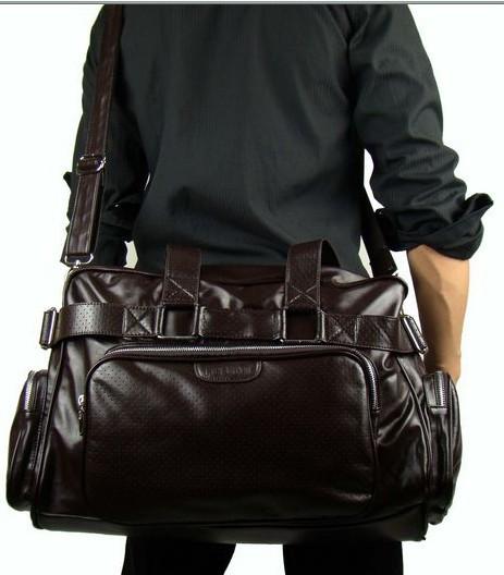Leather Overnight Travel Bag For Men