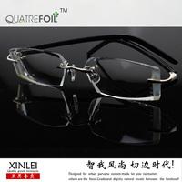 Male diamond luxury ultra-light frame diamond glasses