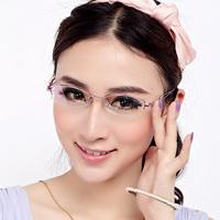 2012 ultra-light metal box frame glasses women's ultra-light myopia female mirror bundle 3501