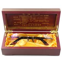Quality ultra-light titanium gold gun grey full frame myopia eyeglasses frame