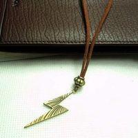 Mix Accessories personality exquisite vintage bronze color cashmere leather necklace