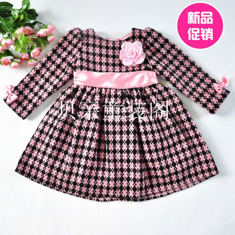 Платье в клетку для девочки 6