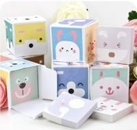 Stationery boxed cartoon animal small memo pad  (KB-04)