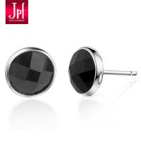 Jpf 925 pure silver stud earring female stud earring male