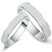 Jpf romantic 925 pure silver lovers ring male wedding ring female silver seiko
