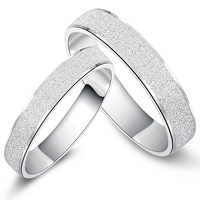 Jpf romantic 925 pure silver lovers ring male wedding ring female silver seiko