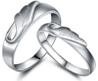 Jpf didymous 925 pure silver lovers ring silver jewelry