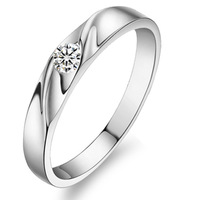 Jpf brief 925 pure silver ring female cubic zircon jewelry female wedding ring
