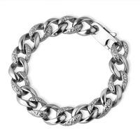 Jpf classic leopard print bracelet stainless steel bracelet male jewelry vintage jewelry