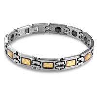 Jpf 18k gold stainless steel male bracelet fashion men