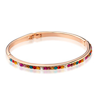 Jpf colorful vintage gorgeous hand ring quality alloy bracelet women's beautiful jewelry