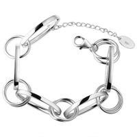 Jpf 925 pure silver bracelet female silver jewelry accessories