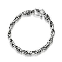 Pirate vintage personality thai silver male bracelet 925 pure silver bracelet